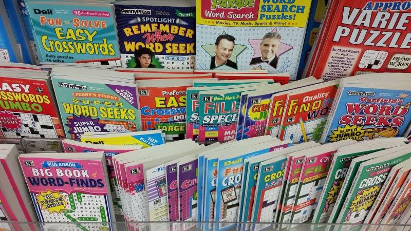 Αναζήτηση λέξης και γρίφοι σταυρόλεξων στοκ εικόνα