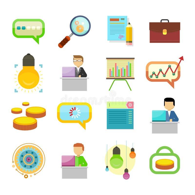 Αναζήτηση ανάλυσης απόδοσης του συνόλου εικονιδίων λύσεων ελεύθερη απεικόνιση δικαιώματος