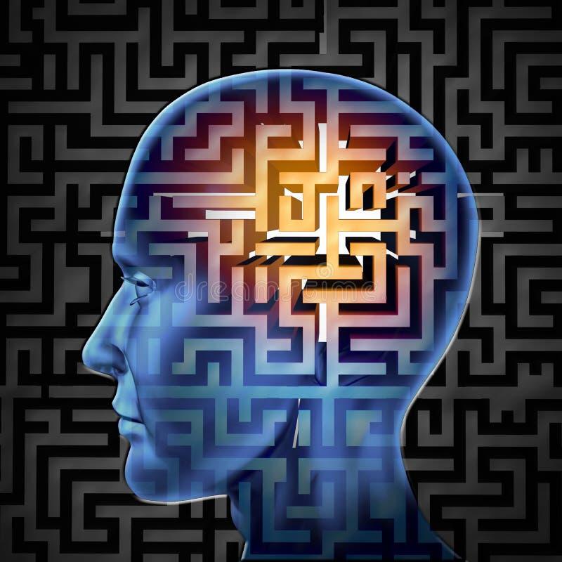 Αναζήτηση εγκεφάλου διανυσματική απεικόνιση