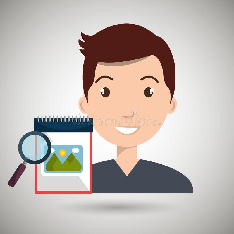 αναζήτηση λευκωμάτων εικόνων ατόμων απεικόνιση αποθεμάτων