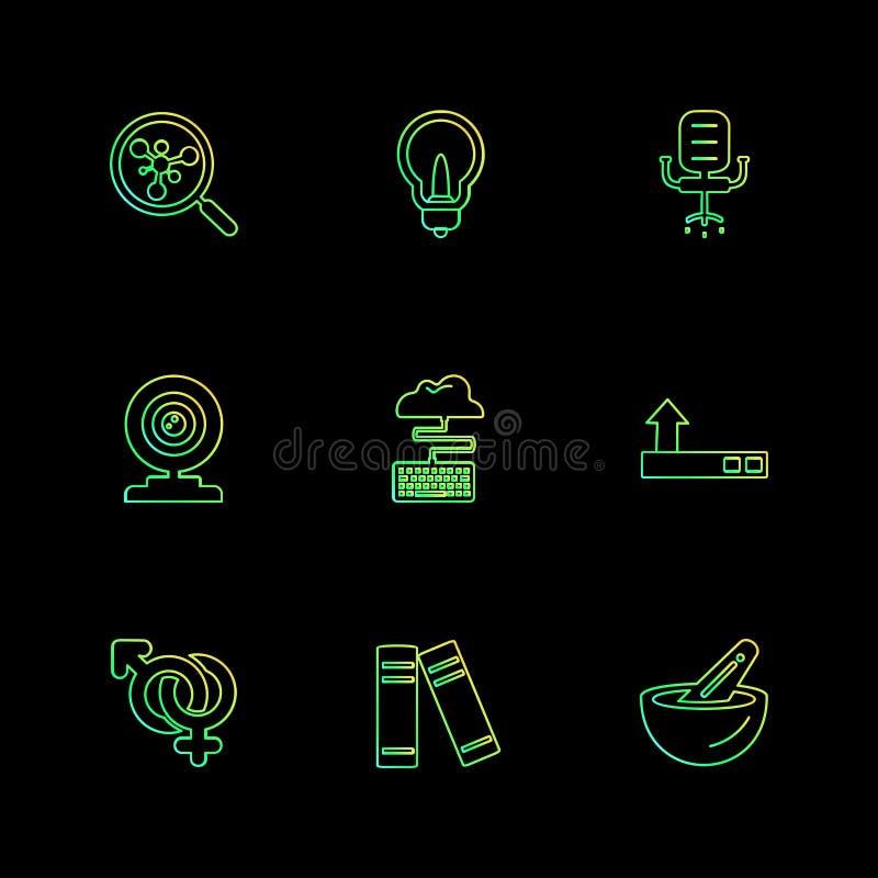 αναζήτηση, ιδέα, βολβός, καρέκλα, μικρόφωνο, σύννεφο, γένος, αρχείο απεικόνιση αποθεμάτων