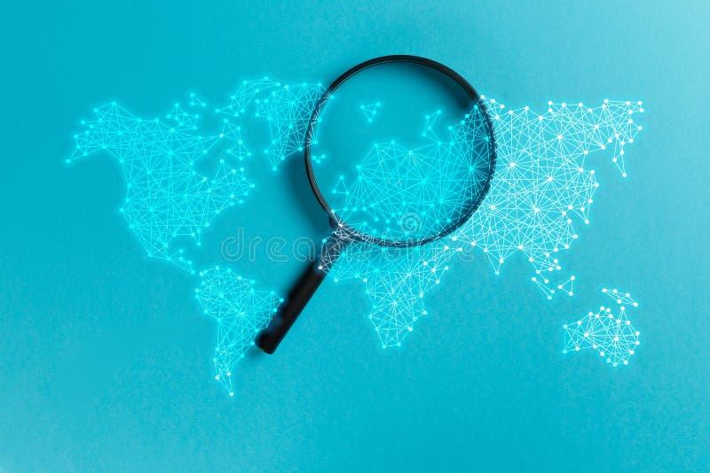 Αναζήτηση πληροφοριών έννοιας διανυσματική απεικόνιση