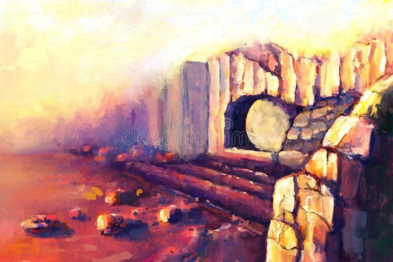 Αναζοωγόνηση Ιησούς Χριστός διανυσματική απεικόνιση