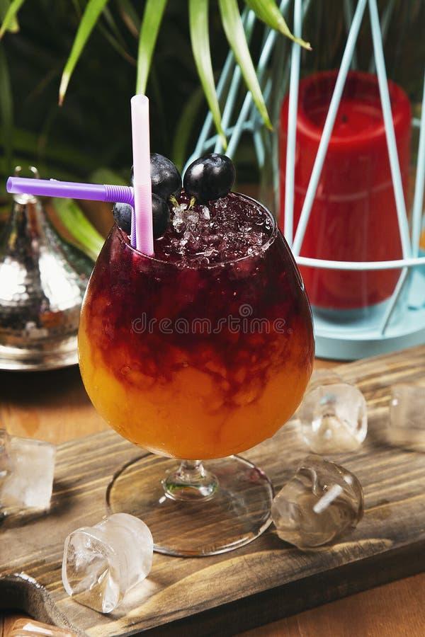 Αναζωογονώντας ποτό κόκκινων σταφυλιών στο γυαλί στοκ εικόνα με δικαίωμα ελεύθερης χρήσης