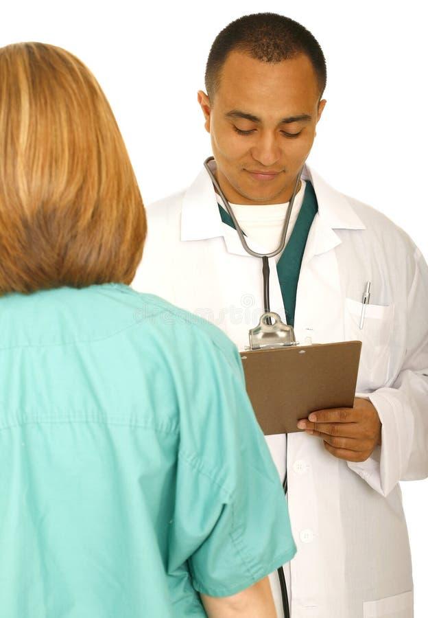 αναθεώρηση εκθέσεων νοσοκόμων γιατρών στοκ φωτογραφίες