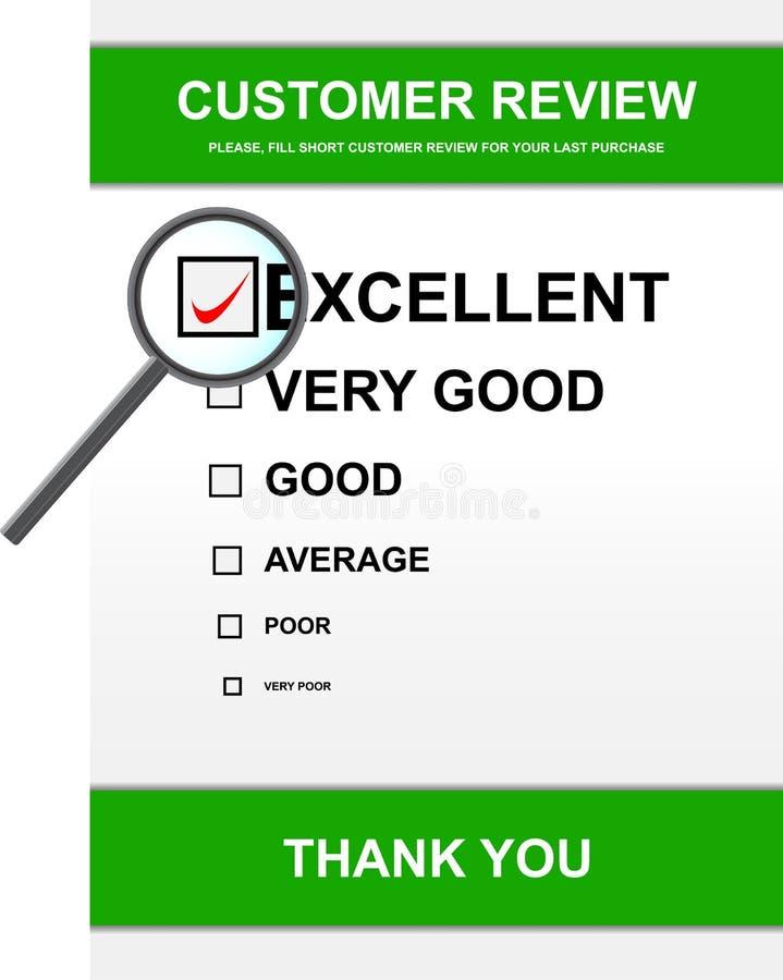 αναθεώρηση μορφής πελατών απεικόνιση αποθεμάτων