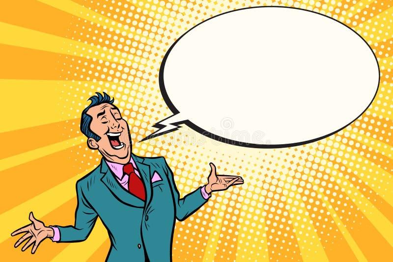 Αναιδής επιχειρηματίας πωλητών διανυσματική απεικόνιση