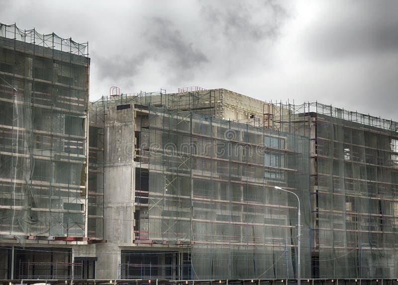 Ανακαίνιση των συγκεκριμένων επιχειρησιακών κτηρίων στοκ φωτογραφία με δικαίωμα ελεύθερης χρήσης