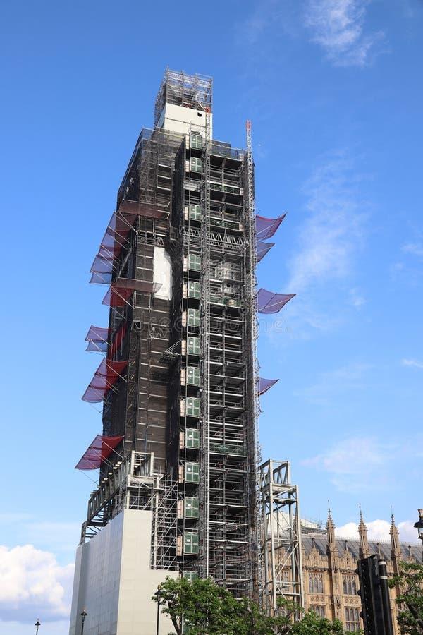 Ανακαίνιση Big Ben στοκ εικόνες
