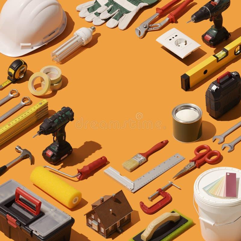 Ανακαίνιση DIY και σπιτιών απεικόνιση αποθεμάτων