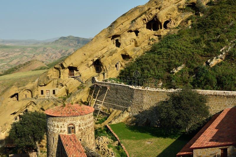 Ανακαλύψτε την επωτίδα Gareja ένα από το μεγαλύτερο μοναστήρι σύνθετο στη Γεωργία στοκ εικόνες