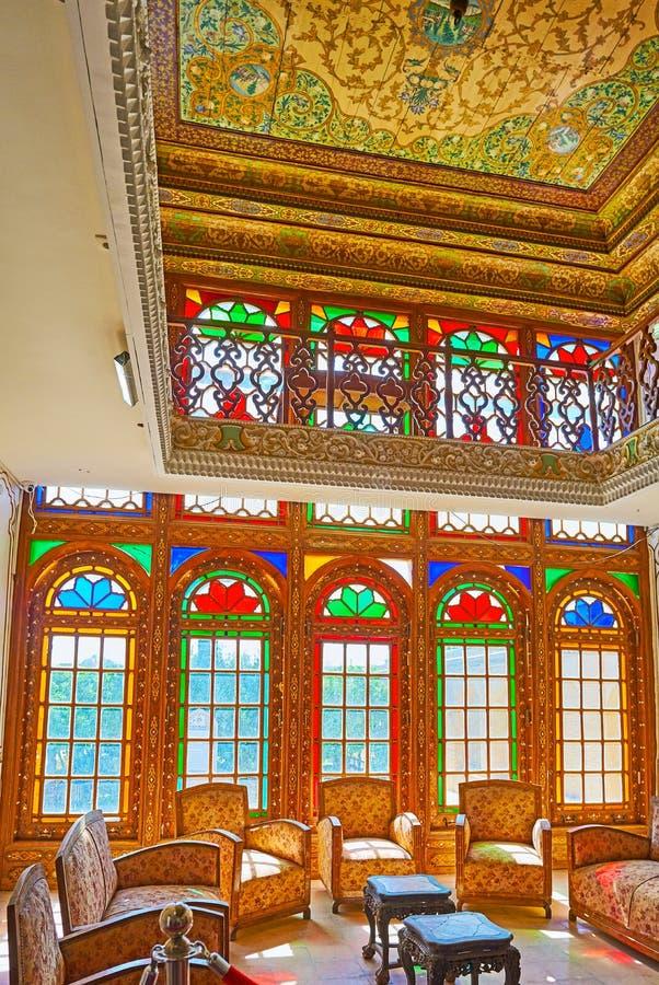 Ανακαλύψτε το μεσαιωνικό σπίτι Qavam, Shiraz, Ιράν στοκ φωτογραφίες