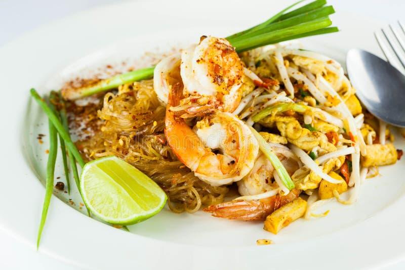 Ανακατώνω-τηγανισμένα noodles ρυζιού (μαξιλάρι Ταϊλανδός) στοκ φωτογραφίες με δικαίωμα ελεύθερης χρήσης