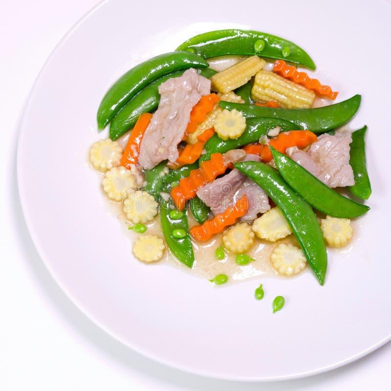 Ανακατώστε τα τηγανισμένα λαχανικά στοκ φωτογραφία με δικαίωμα ελεύθερης χρήσης