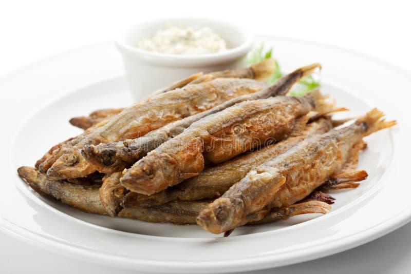 Ανακατώστε τα τηγανισμένα ψάρια στοκ εικόνα