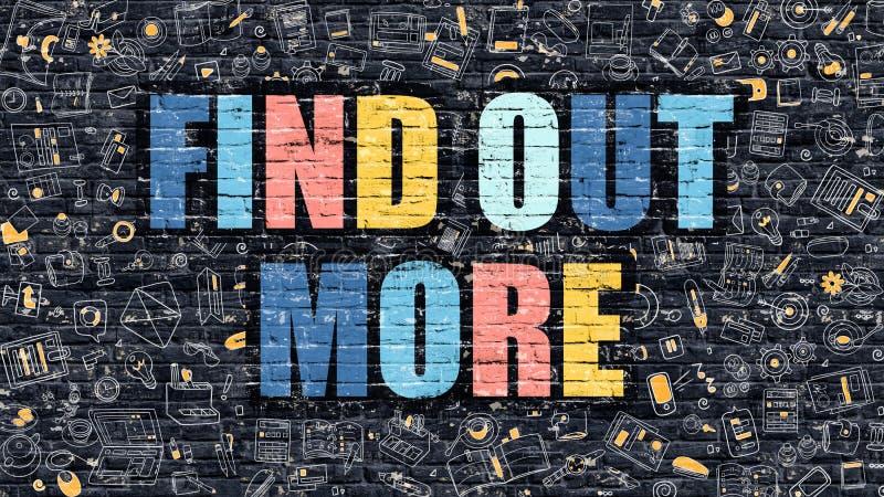 Ανακαλύψτε περισσότερη έννοια Πολύχρωμος σε σκοτεινό Brickwall ελεύθερη απεικόνιση δικαιώματος