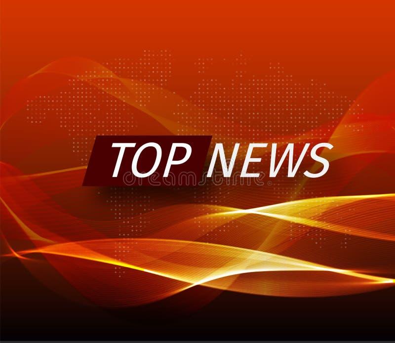 Ανακοίνωση και μια γραμμή μηνυμάτων με ένα μήνυμα για τις πιό πρόσφατες ειδήσεις στον αέρα σε ένα φουτουριστικό μαύρο και πορτοκα ελεύθερη απεικόνιση δικαιώματος