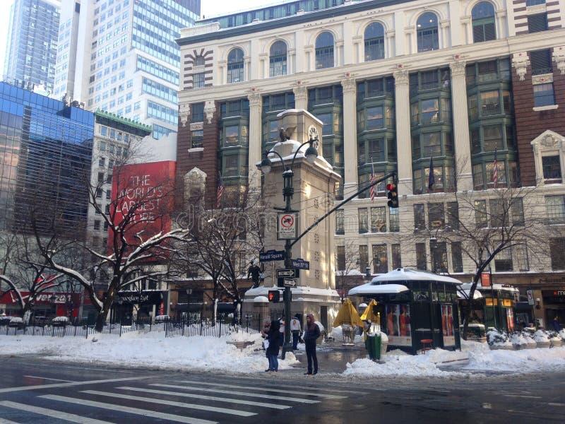 Ανακοινώστε το τετράγωνο στο χιόνι στοκ φωτογραφίες με δικαίωμα ελεύθερης χρήσης