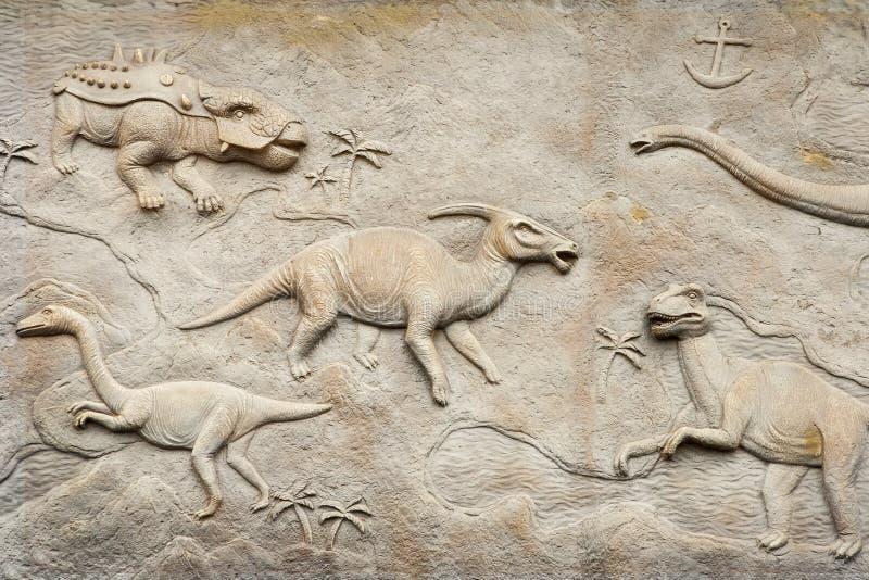 Ανακούφιση της Dino στοκ εικόνες με δικαίωμα ελεύθερης χρήσης