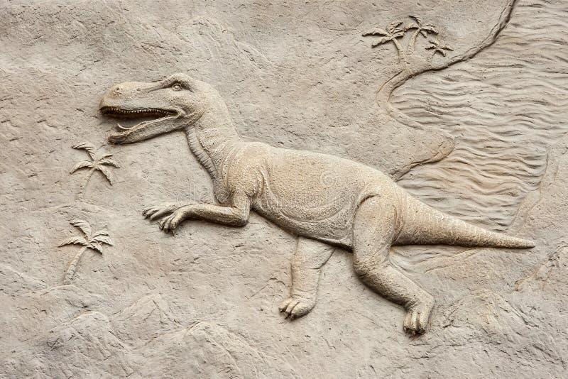 Ανακούφιση Τ rex στοκ φωτογραφία με δικαίωμα ελεύθερης χρήσης