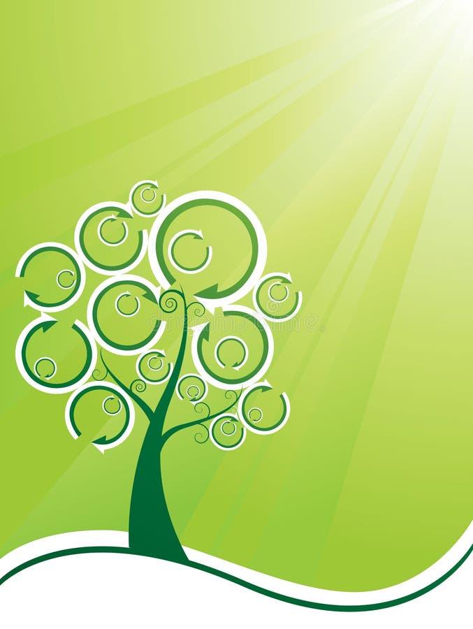 ανακυκλωμένο δέντρο ελεύθερη απεικόνιση δικαιώματος