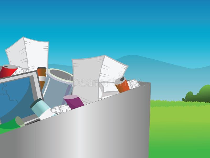 Ανακυκλώνοντας δοχείο διανυσματική απεικόνιση