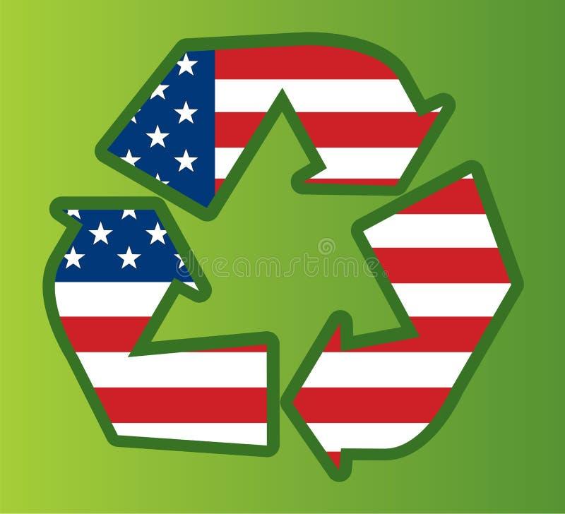 ανακυκλώνοντας ΗΠΑ διανυσματική απεικόνιση