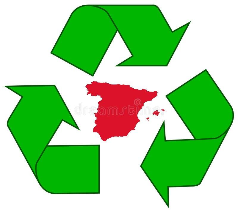 ανακυκλώνοντας Ισπανία ελεύθερη απεικόνιση δικαιώματος