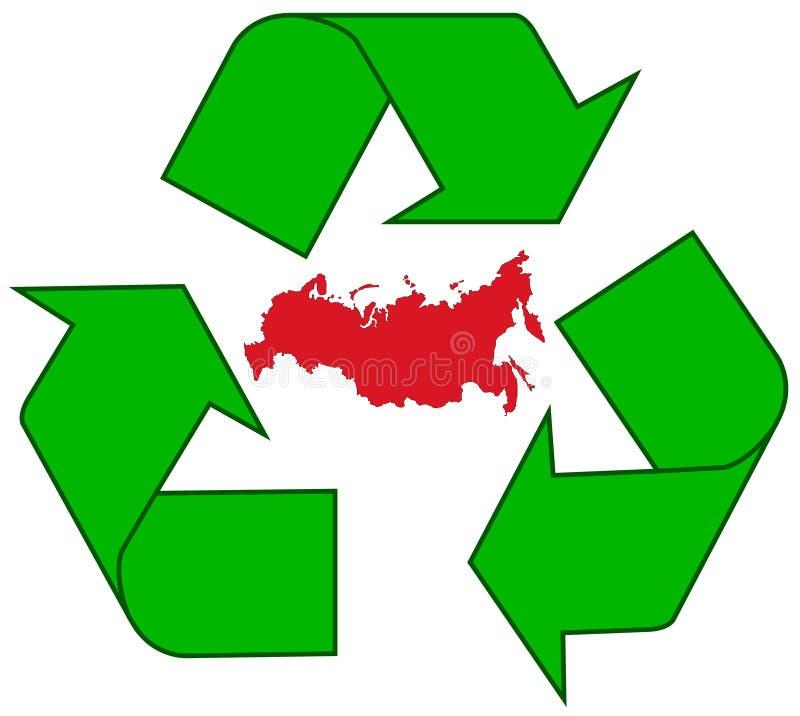 ανακυκλώνοντας Ρωσία απεικόνιση αποθεμάτων