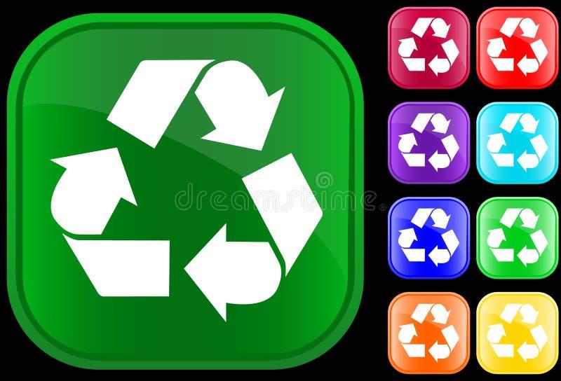 ανακυκλώνοντας σύμβολο ελεύθερη απεικόνιση δικαιώματος