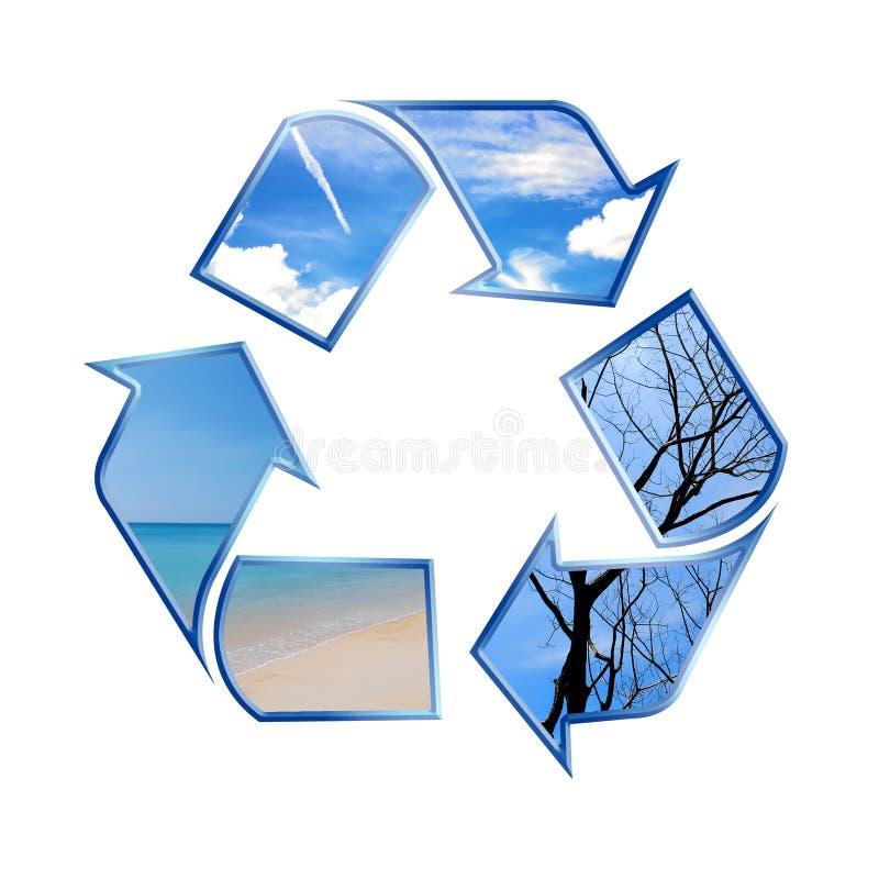 ανακυκλώνοντας σύμβολο στοκ εικόνα