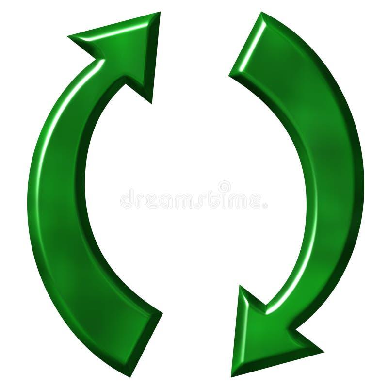 ανακυκλώνοντας σύμβολ&omicro διανυσματική απεικόνιση