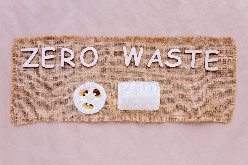 Ανακυκλώσιμο λουτρό loofah ενάντια στο πλαστικό r στοκ φωτογραφία
