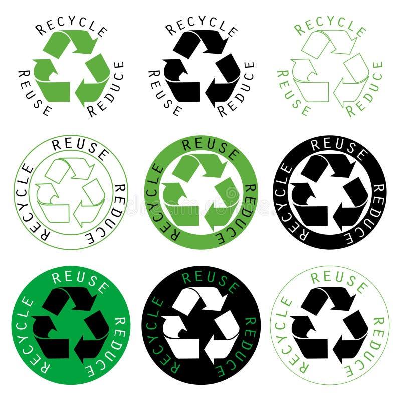 ανακυκλώστε μειώνει την &ep διανυσματική απεικόνιση