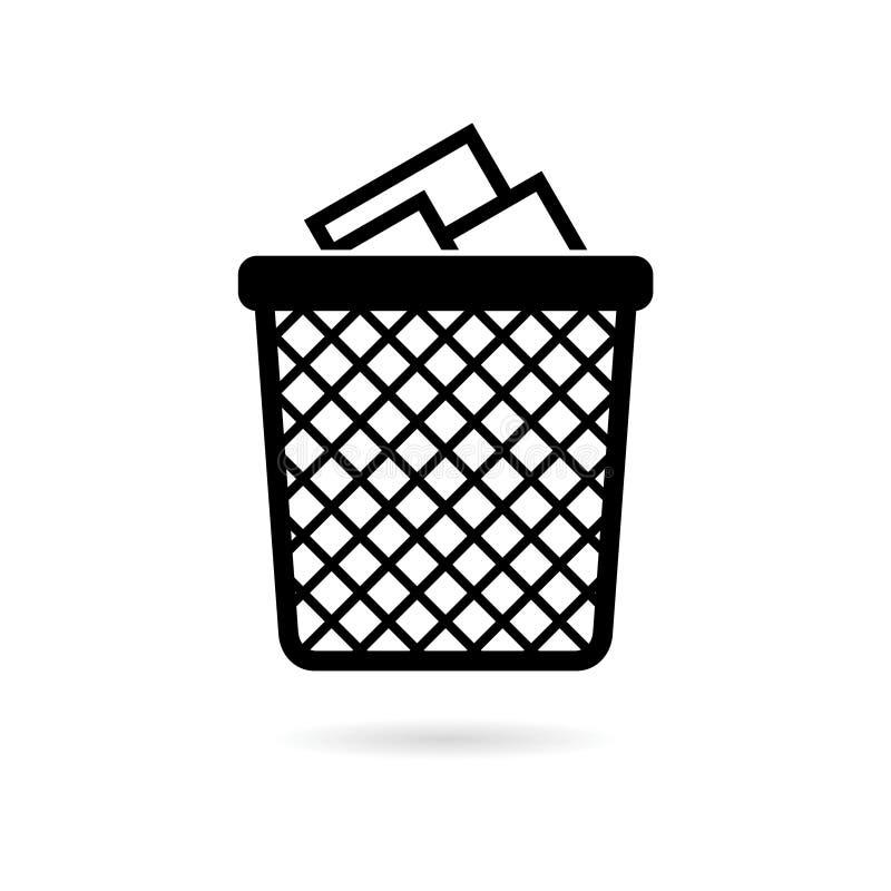 Ανακυκλώστε τα απορρίμματα δοχείων και το εικονίδιο απορριμάτων ελεύθερη απεικόνιση δικαιώματος