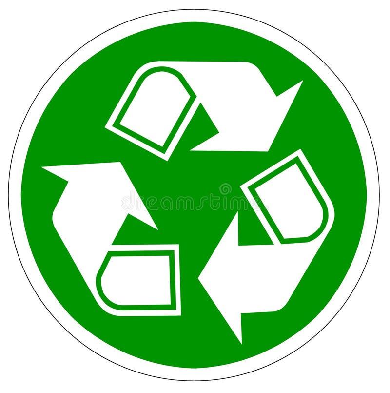 Ανακυκλώστε τα βέλη που απομονώνονται στο λευκό απεικόνιση αποθεμάτων