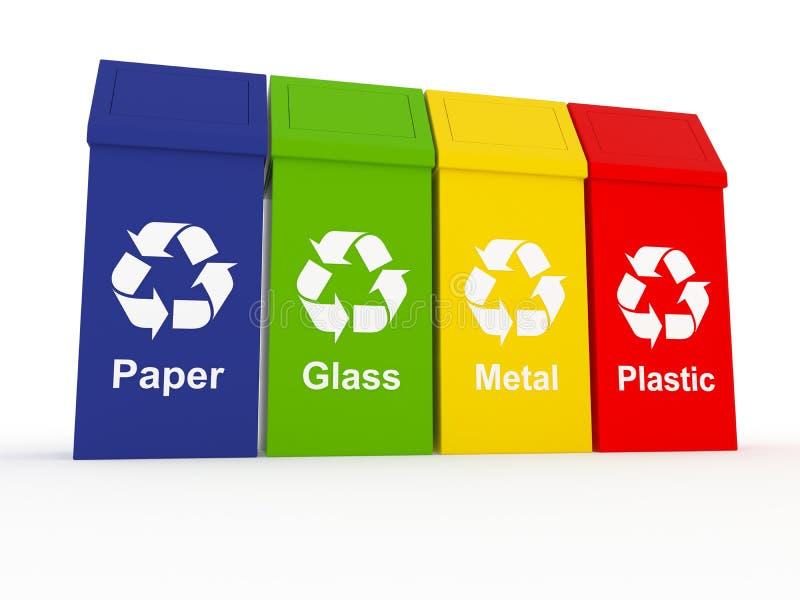 Ανακυκλώστε τα δοχεία στοκ φωτογραφία με δικαίωμα ελεύθερης χρήσης