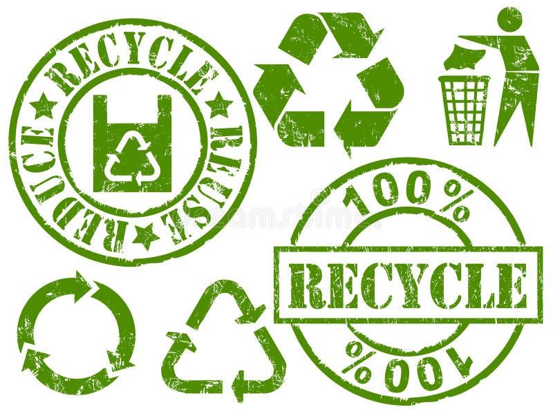 ανακυκλώστε τις σφραγί&delta ελεύθερη απεικόνιση δικαιώματος