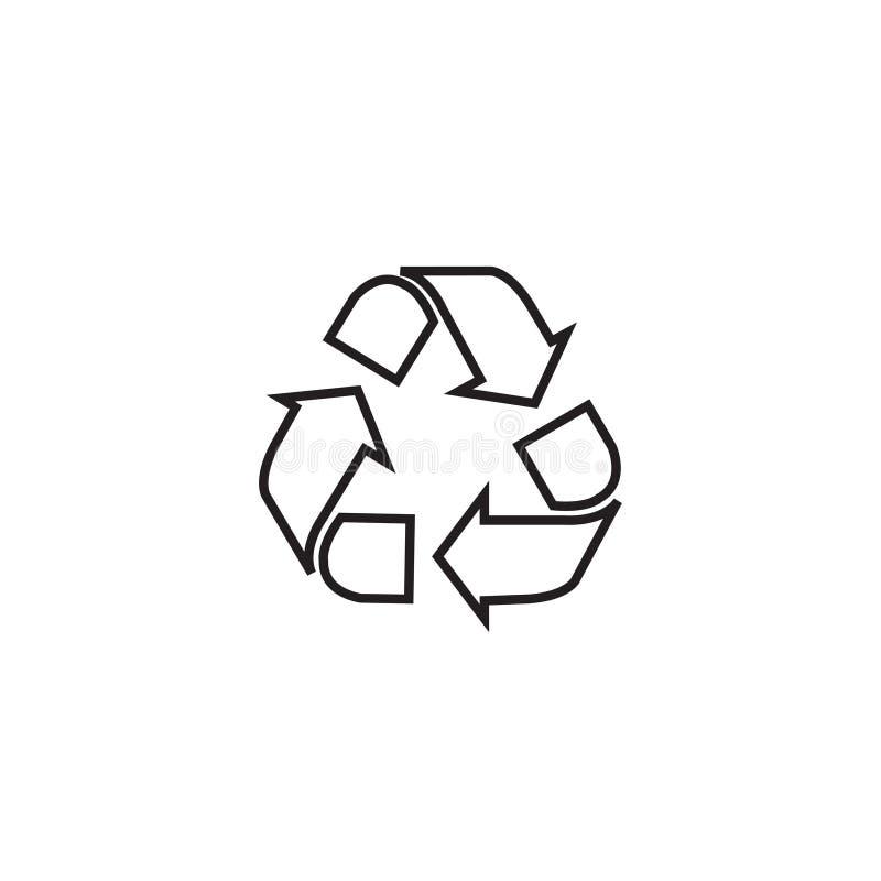 Ανακυκλώστε το γραμμικό εικονίδιο Λεπτή απεικόνιση γραμμών Σύμβολο περιγράμματος προστασίας του περιβάλλοντος απεικόνιση αποθεμάτων