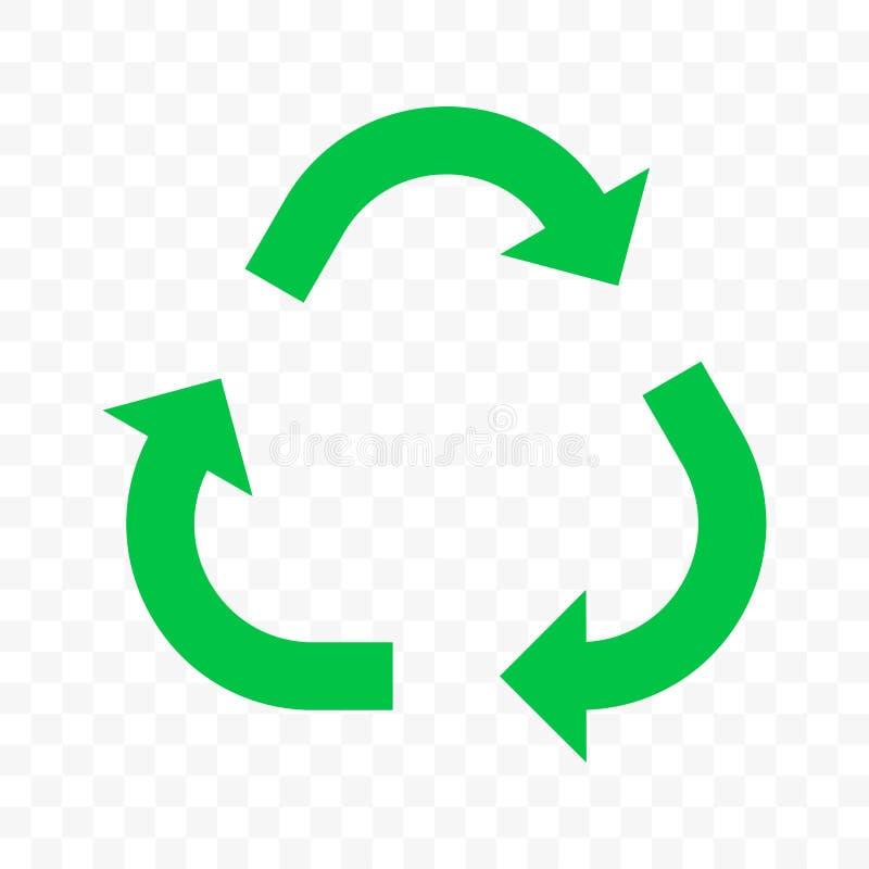 Ανακυκλώστε το διανυσματικό εικονίδιο βελών Βιο ανακύκλωσης τρίγωνο τρία επαναχρησιμοποίησης αποβλήτων Eco βέλη ελεύθερη απεικόνιση δικαιώματος