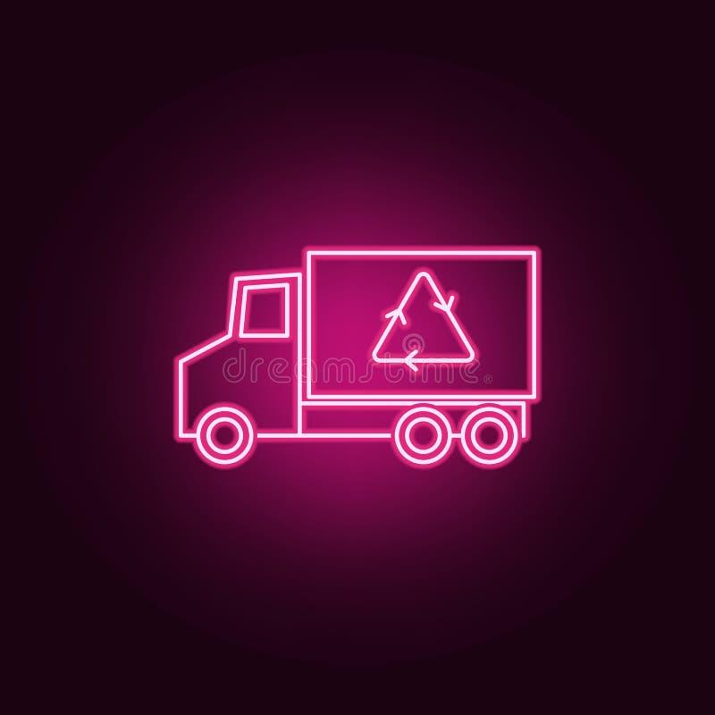 Ανακυκλώστε το εικονίδιο νέου φορτηγών Στοιχεία του συνόλου οικολογίας r ελεύθερη απεικόνιση δικαιώματος