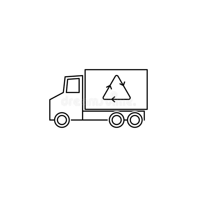 Ανακυκλώστε το εικονίδιο φορτηγών απεικόνιση αποθεμάτων