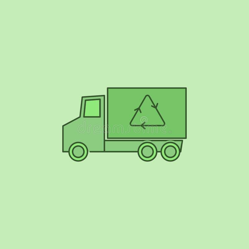 Ανακυκλώστε το εικονίδιο φορτηγών διανυσματική απεικόνιση