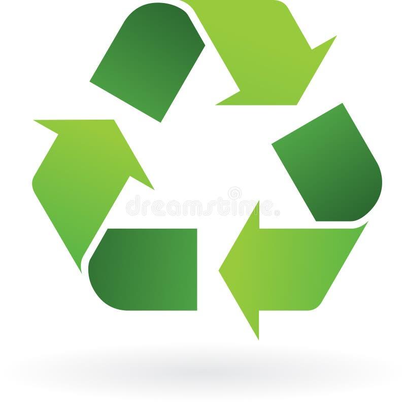 Ανακυκλώστε το εικονίδιο διανυσματική απεικόνιση