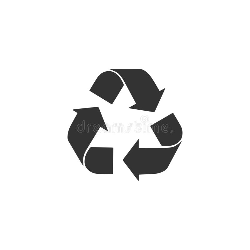 Ανακυκλώστε το επίπεδο εικονιδίων βελών απεικόνιση αποθεμάτων