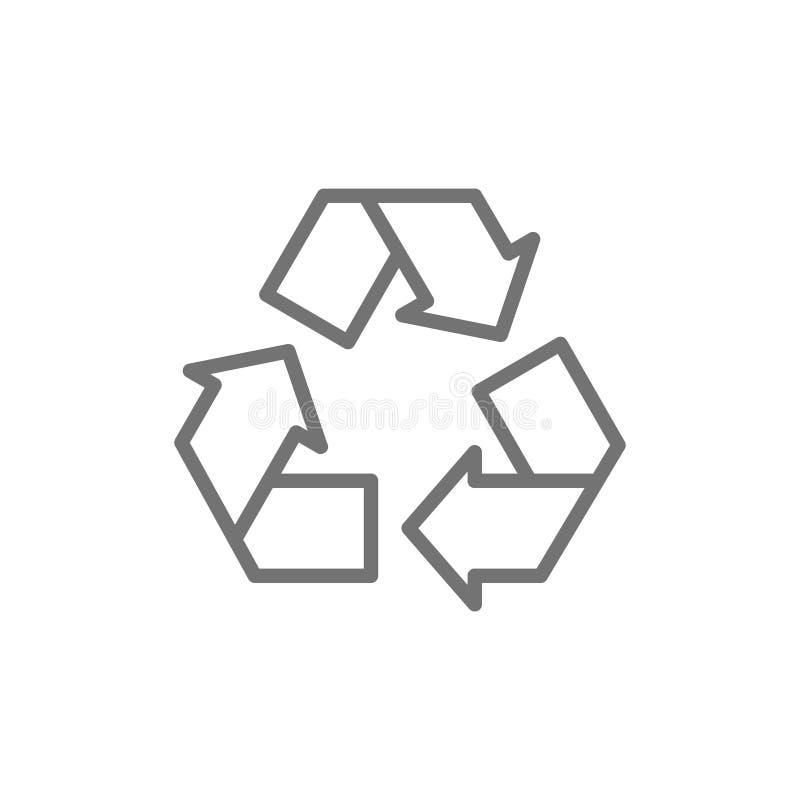 Ανακυκλώστε το σημάδι, ανακύκλωση αποβλήτων, εικονίδιο γραμμών απορριμμάτων απεικόνιση αποθεμάτων