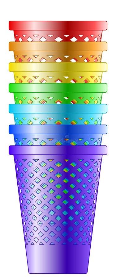 Ανακυκλώστε το σωρό δοχείων διανυσματική απεικόνιση