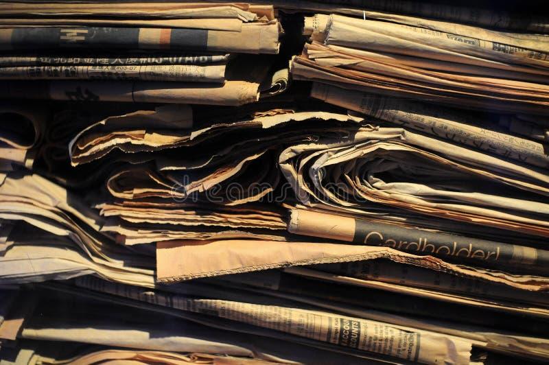 Ανακυκλωμένες εφημερίδες στοκ εικόνα με δικαίωμα ελεύθερης χρήσης