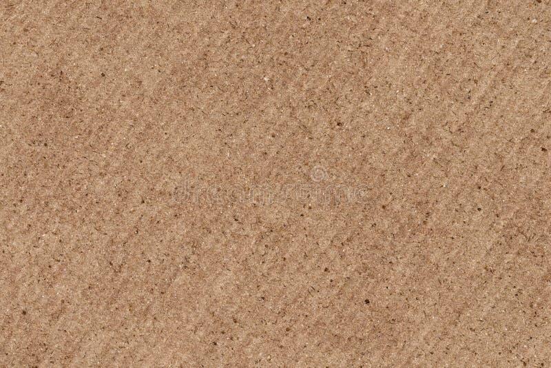 Ανακυκλωμένη καφετιά ζαρωμένη σύσταση υποβάθρου Grunge φύλλων φίμπερ χονδροειδής στοκ εικόνες