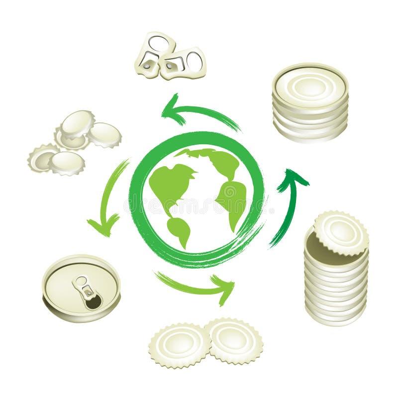 Το αργίλιο μπορεί σύμβολο ανακύκλωσης για εκτός από τον κόσμο απεικόνιση αποθεμάτων